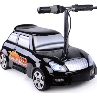 MotoTec 24v Mini Racer V2 Black Kids Power Wheels Car