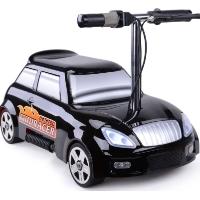 MotoTec 24v Mini Racer V2 Black Kids Power Wheels Car