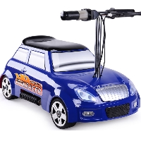 MotoTec 24v Mini Racer V2 Blue Kids Power Wheels Car