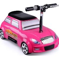 MotoTec 24v Mini Racer V2 Pink Kids Power Wheels Car