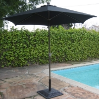High Quality Black 8' Outdoor Garden Aluminum Frame Tilt Umbrella