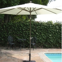 High Quality 10' Outdoor Garden Aluminum Frame Tilt Umbrella