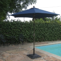 High Quality Blue 8' Outdoor Garden Aluminum Frame Tilt Umbrella