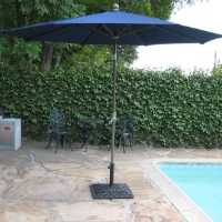 High Quality Blue 10' Outdoor Garden Aluminum Frame Tilt Umbrella