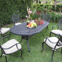 7pc Aluminum Outdoor Patio Furniture Dining Set