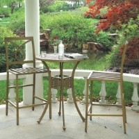 3pc Cast Aluminum Outdoor Patio Furniture Bar Set