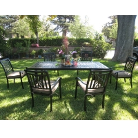 7pc Cast Aluminum Outdoor Patio Furniture Dining Set
