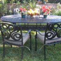 7pc Black Bronze Aluminum Outdoor Patio Furniture Dining Set