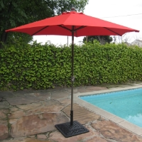 High Quality Red 8' Outdoor Garden Aluminum Frame Tilt Umbrella