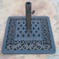 "High Quality 22"" Powder Coated 53 Lbs Wrought Iron Umbrella Base"