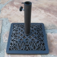 "High Quality 16"" Powder Coated 26 Lbs Wrought Iron Umbrella Base"