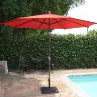 High Quality Red 10' Outdoor Garden Aluminum Frame Tilt Umbrella
