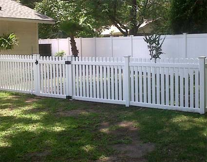 Vinyl Solid Picket Fence With 50 Ft Complete Solid Pvc Vinyl Open Top Straight Picket Fencing Package 4u0027 8u0027 Fence Panels W 15