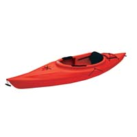 10 ft Polyethylene Sit-In Kayak w/ Padded Back Rest & Large Open Cockpit