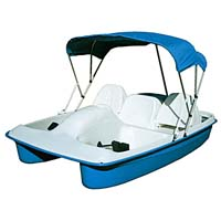 Brand New 8 ft 2 Person Polyethylene Paddle Boat w/ Canopy + Electric Motor