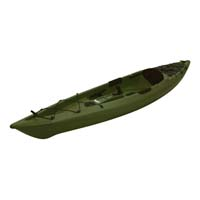 12 ft Polyethylene Sit-On Fishing Kayak w/ Portable Accessory Carrier