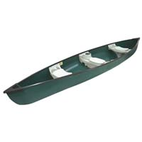 "15'6"" ft 3 Person Polyethylene Fishing Canoe"