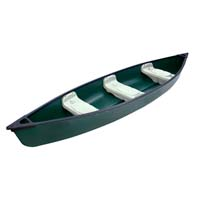14 ft 3 Person Polyethylene Fishing Canoe