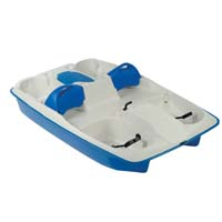 Brand New 8 ft 3 Person Polyethylene Paddle Boat w/ Adjustable Seats