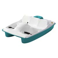 Brand New 8 ft 5 Person Polyethylene Paddle Boat w/ Internal Steering Linkage System