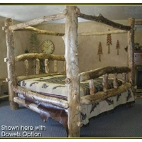 Brand New Classic Rustic Furniture Aspen Log Canopy Bed