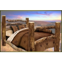 Brand New Corral Rustic Furniture Log Bed