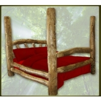 Brand New Custom Rustic Furniture Aspen Log Poster Bed