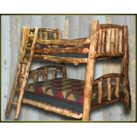 Brand New Rustic Furniture Custom Log Bunk Bed