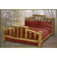Brand New Mountain Cottage Rustic Furniture Aspen Log Bed