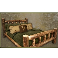 Brand New Rustic Furniture Aspen Log Cabin Bed with Mattress Supports