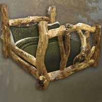Brand New Old Tree Rustic Furniture Aspen Log Bed
