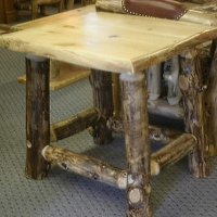 Brand New Rustic Furniture Log Corner End Table/Nightstands