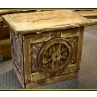 Brand New Rustic Furniture Wagon Wheel End Table/Nightstand/TV Stand