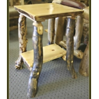 Brand New Rustic Furniture Log End Table/Nightstand/TV Stand
