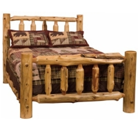 Brand New Rustic Furniture Traditional Log Bed - Complete Bed