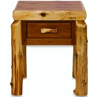 Brand New Rustic Furniture One Drawer Nightstand - Traditional