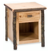 Brand New Rustic Furniture Hickory One Drawer Nightstand