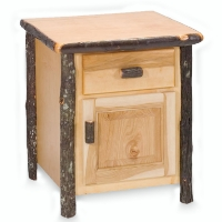 Brand New Rustic Furniture Hickory Enclosed Nightstand