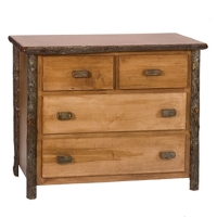 Brand New Rustic Furniture Low-Boy 4 Drawer Dresser