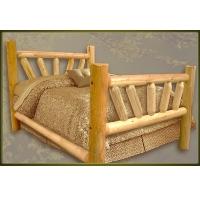 Brand New GoodTimber Rustic Furniture Large Sunburst Log Bed