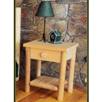 Brand New Rustic Furniture Night Table w/ Drawer