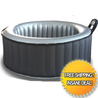 4 Person Silver Cloud Round Shape Bubble Spa Inflatable Hot Tub