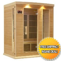 Maxxus Grand 3 Person Infrared Carbon Sauna