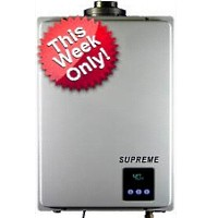 Supreme Gas Indoor Tankless Water Heater - 3-4 Bathrooms