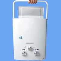 Indoor / Outdoor 6L Portable Liquid Propane Gas Tankless Water Heater