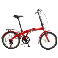 "AVANTI 20"" Folding 6 Speed Bike with Fenders & Rear Rack"