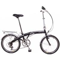 "TEMPEST 20"" Folding 6 Speed Bike with Fenders & Rear Rack"