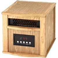 DYNAMIC 1500 INFRARED SPACE HEATER - LIGHT OAK FINISH