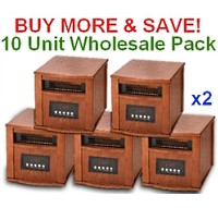 DYNAMIC 1500 INFRARED SPACE HEATER - 10 Unit Wholesale Lot - FREE SHIPPING!