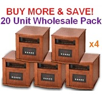 DYNAMIC 1500 INFRARED SPACE HEATER - 20 Unit Wholesale Lot - FREE SHIPPING!